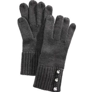 Michael Kors Logo Dome-Button Gloves